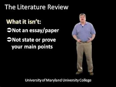 The relevance of literature review in research papers